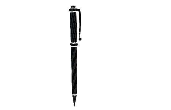 550x354 Pen Silhouette Vector Free Download General Vector Graphics
