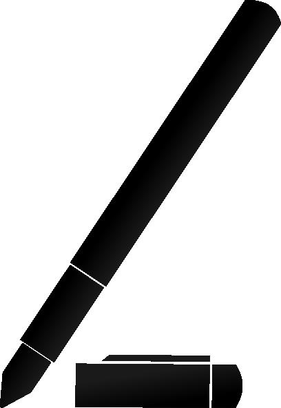 408x591 Pencil Silhouette Vector Clipart Panda