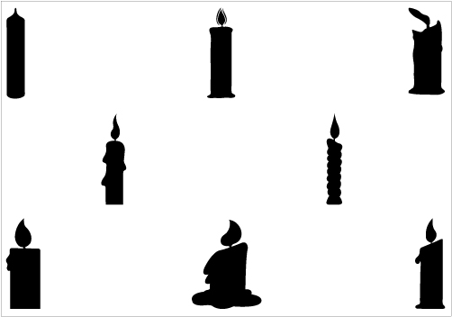 502x352 Candle Clipart Silhouette