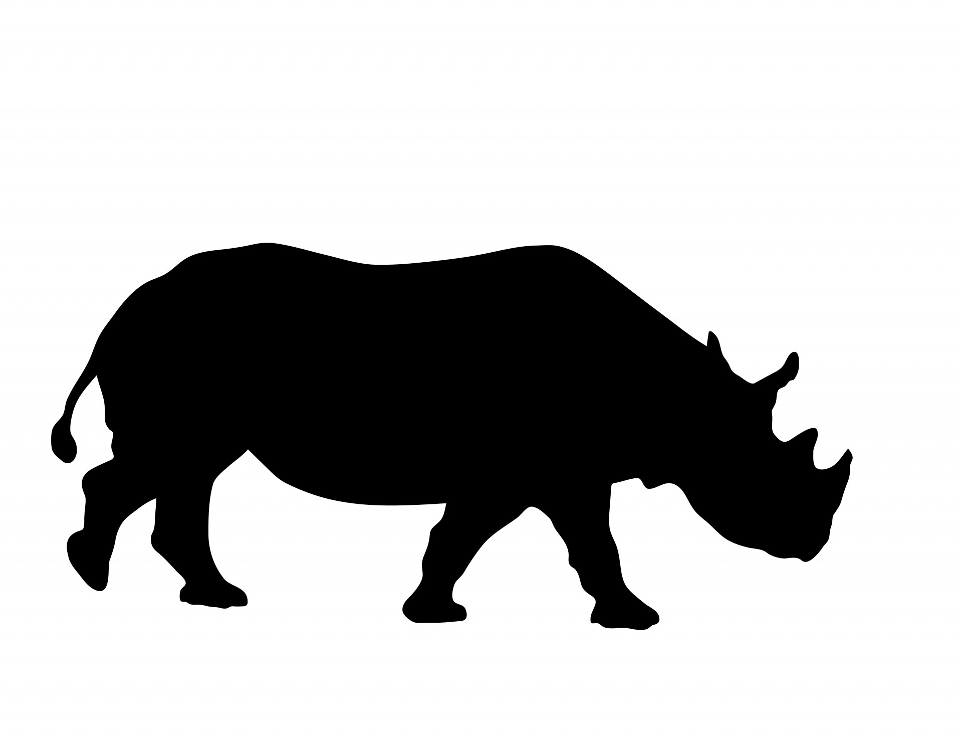 1920x1470 Rhino Clipart Silhouette