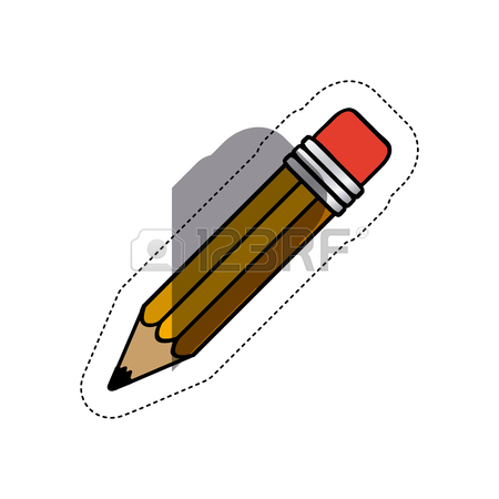 450x450 Colorful Pencil Silhouette And End Part Pixelated Vector