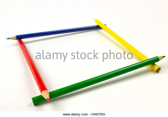 640x447 Colored Pencils Border Isolated On Stock Photos Amp Colored Pencils