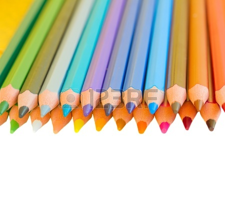 450x394 Back To School Border Of Colorful Pencils Isolated On White