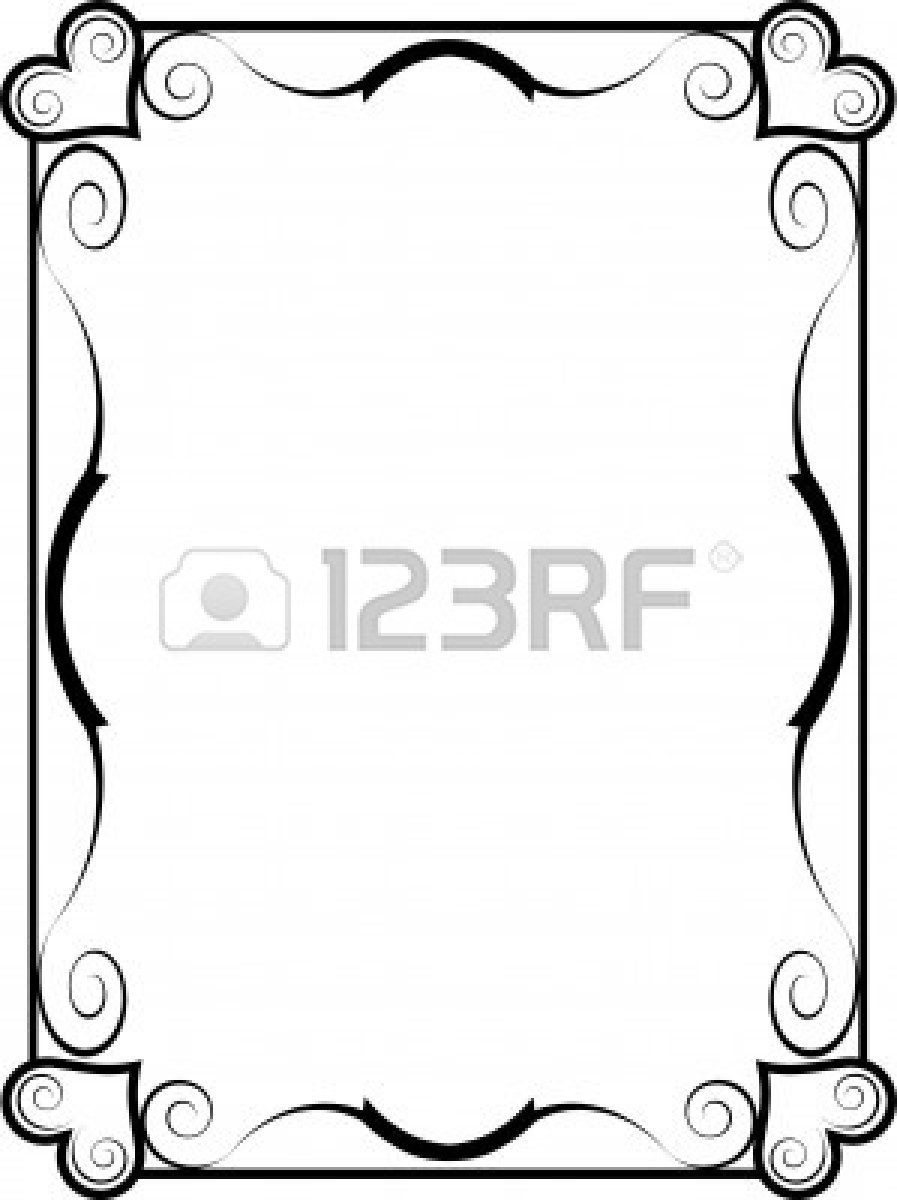 897x1200 Picture Frame Clip Art Border Choice Image