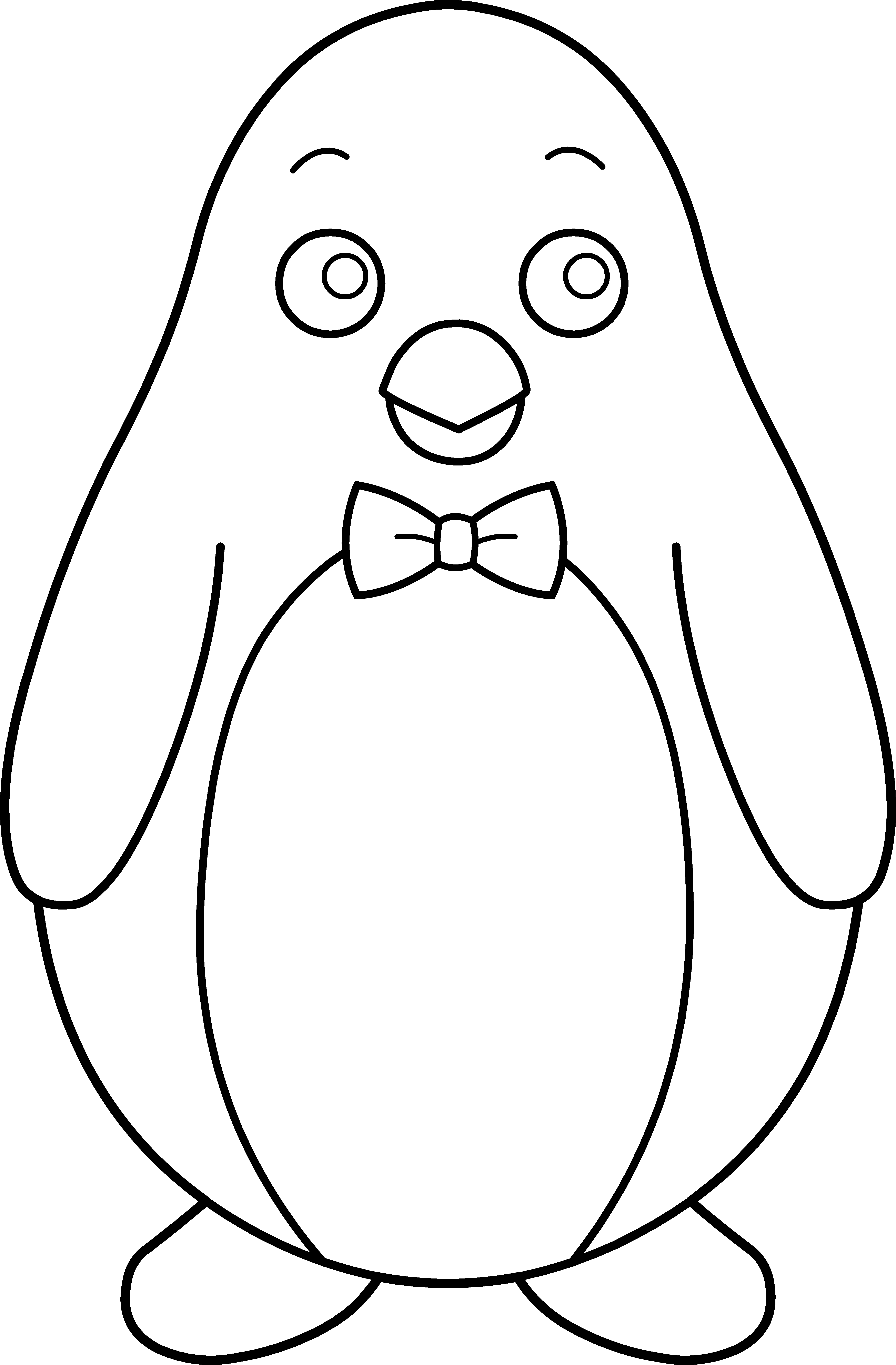 Penguin Clipart Black And White