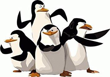 355x248 Madagascar Penguins Cartoon Bumper Sticker Decal 5x 4