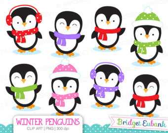 340x270 Watercolor Winter Animals Clipart Winter Watercolors Holiday