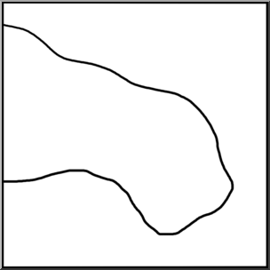 304x304 Clip Art Landforms Peninsulagulf Bampw I Abcteach