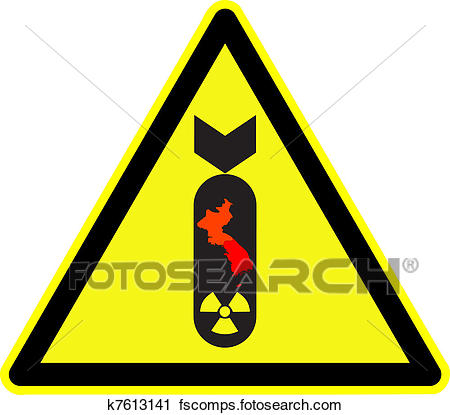 450x415 Clipart Of Korea Nuclear Bomb Warning K7613141