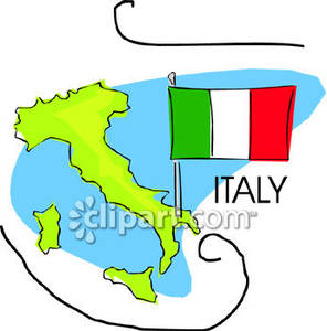 296x300 Italian Peninsula And Flag