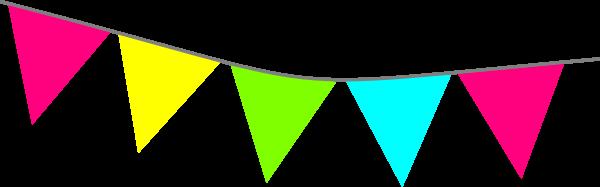 600x187 Bright Pennant Banner Clip Art
