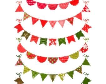 340x270 Christmas Pennant Banner Clip Art Scrapheap