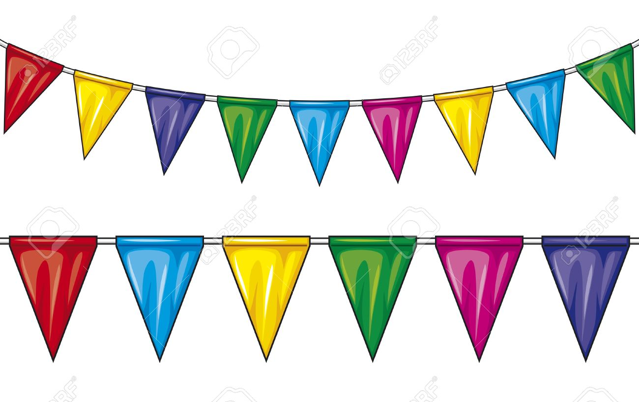 1300x818 Party Clipart Pennant