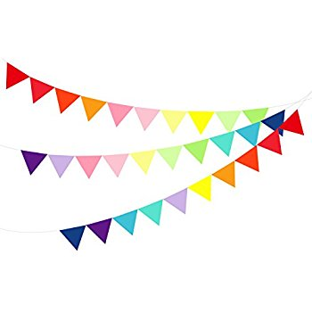 350x350 Hibery 150 Pack Multicolor Pennant Banner Flags