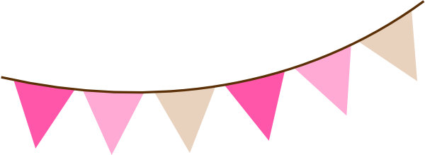 600x219 Rustic Clipart Pennant Banner