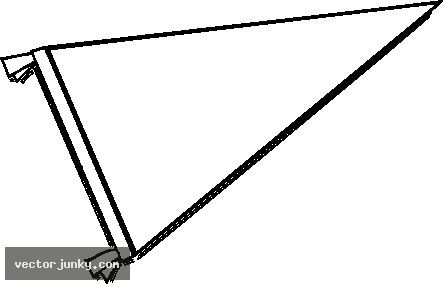443x285 Deluxe Pennant Clip Art Pennant Flag Clipart Black And White