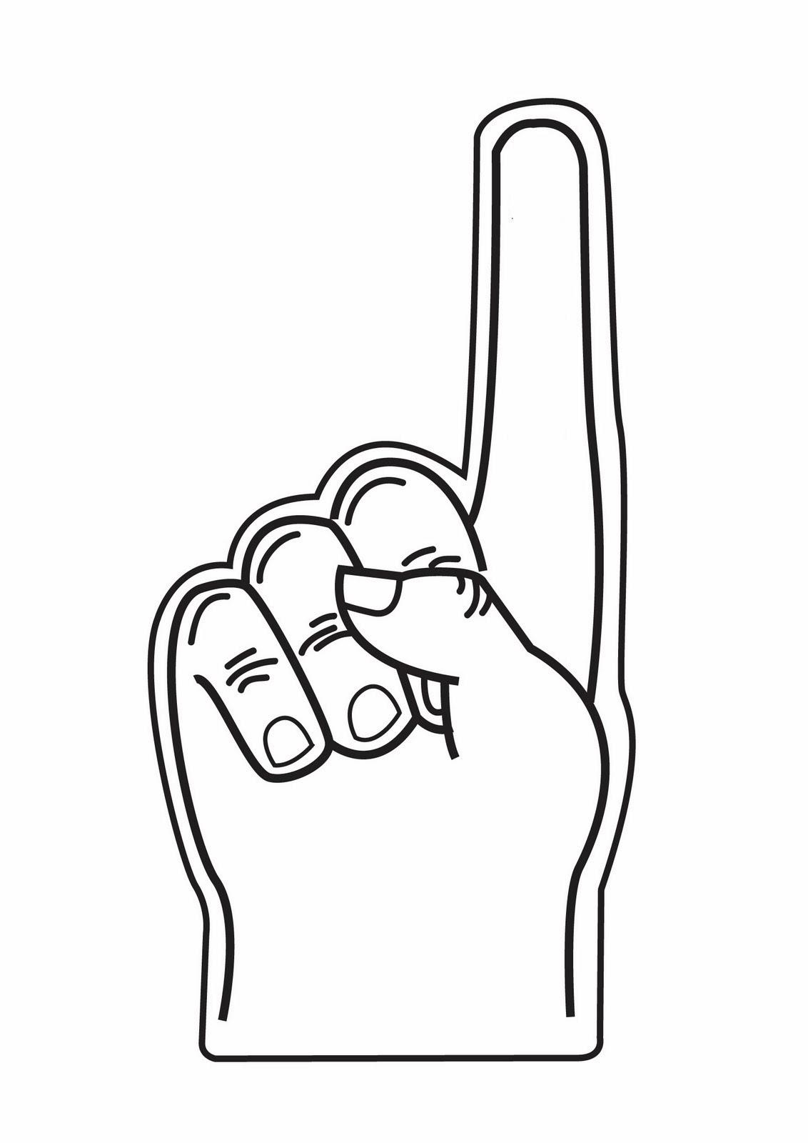 1132x1600 Foam Finger Clip Art Clipart