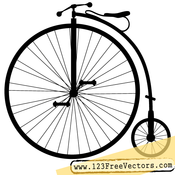 600x600 Bike Penny Farthing Bicycle Vector Clip Art Freevectors