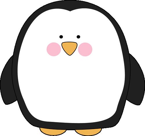 500x470 Chubby Penguin Clip Art