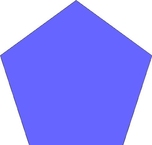 490x466 Blue Pentagon Favorite Color In Shapes Favorite Color