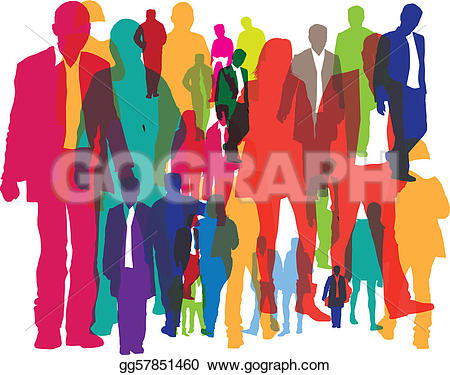 450x375 Crowd Of People Clipart