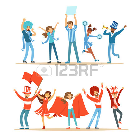 450x450 1,898 Fans Cheering Stock Vector Illustration And Royalty Free