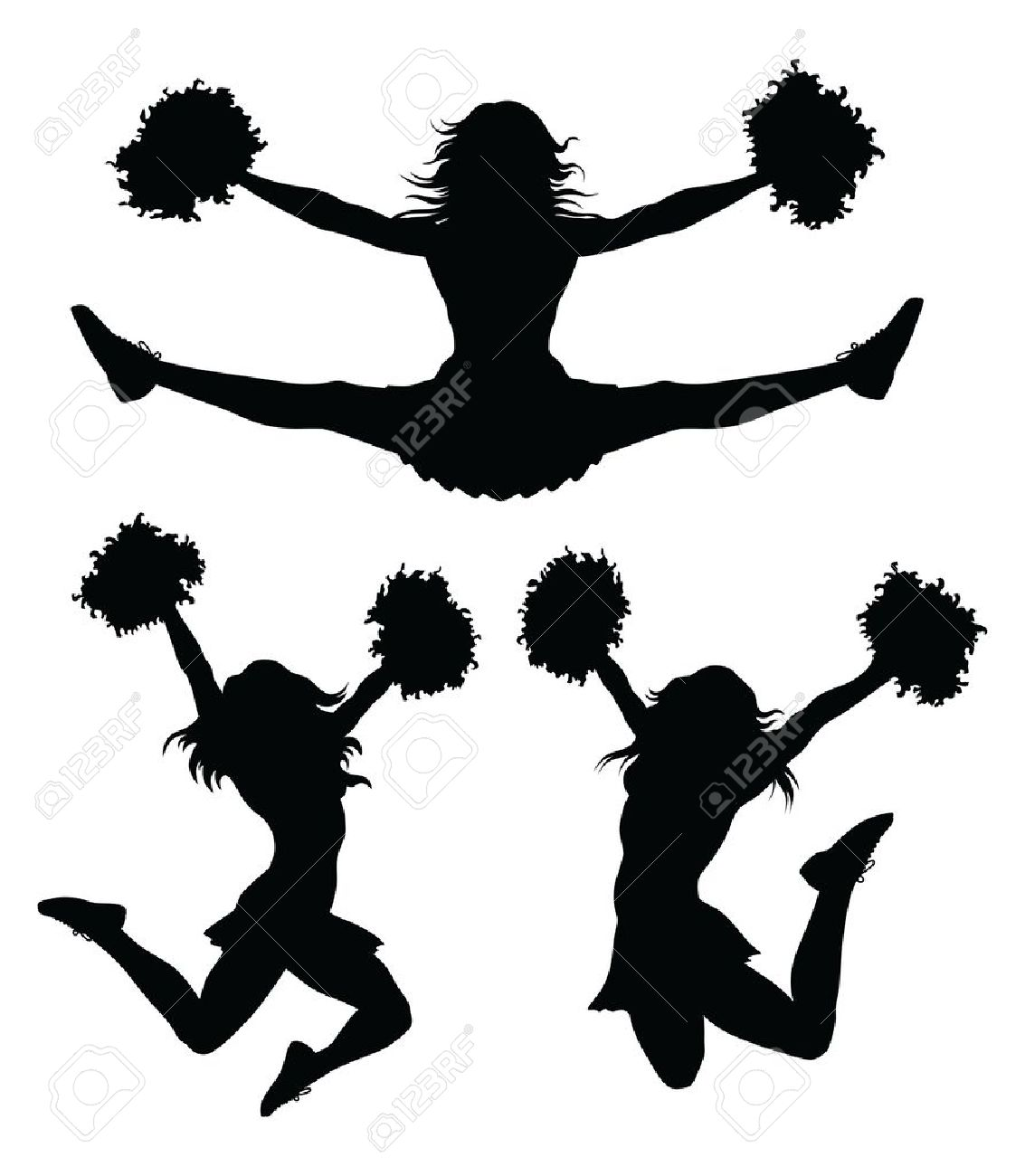 1133x1300 Cheerleading Silhouette Clip Art Many Interesting Cliparts