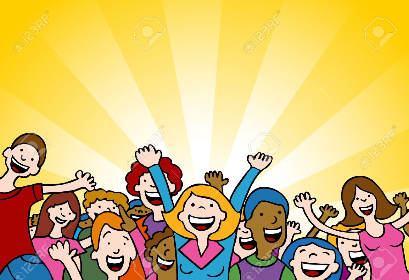 1300x891 Crowd Clipart Happy