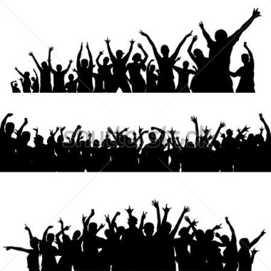 380x380 Party Crowd Clipart