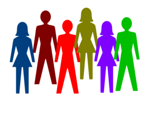 300x237 Colorful Group Of People Clip Art