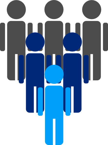 444x594 Group Of People Clip Art