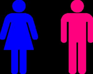 298x237 Pink People Blue Woman Clip Art