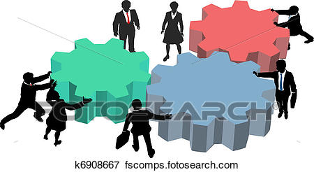 450x246 Clip Art Of People Work Together Technology Business Plan K6908667