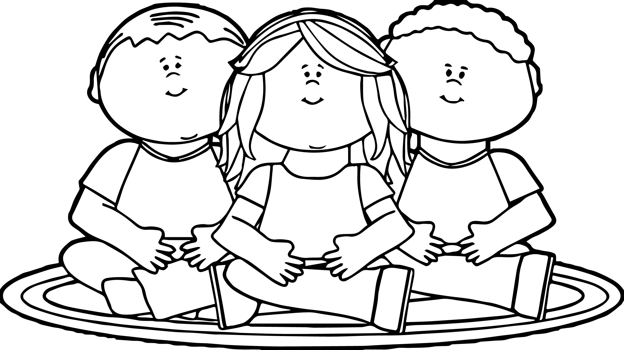 2506x1406 Kids Sitting On School Rug Coloring Page Wecoloringpage