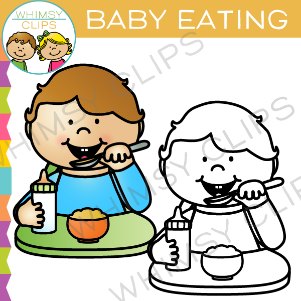 600x600 Baby Eating Clip Art , Images Amp Illustrations Whimsy Clips