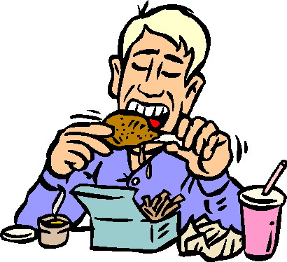 410x374 Pictures Of People Eating Lunch Clipart Image