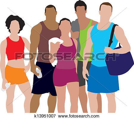 450x400 People Exercising Clipart