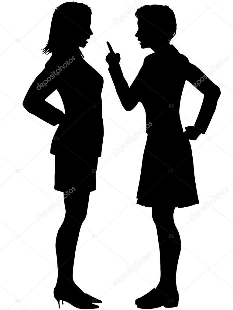 767x1023 Fighting Verbally Clipart