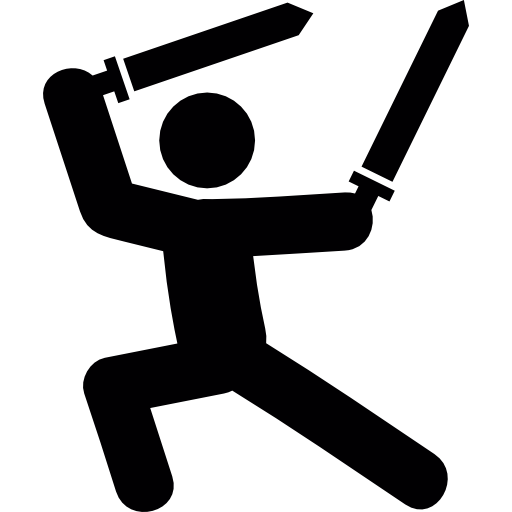 512x512 Warrior, Swords, Fighting, People, Arms, Fight Icon