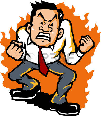 393x450 Angry Man Clipart Collection