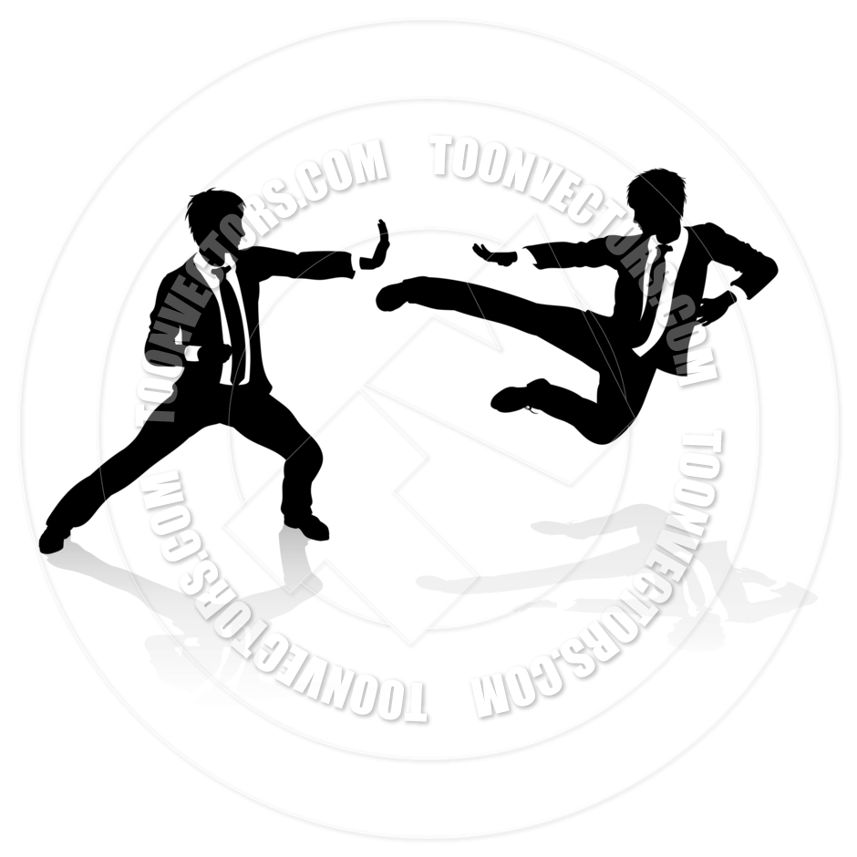 940x940 Business Competition Concept People Fighting By Geoimages Toon