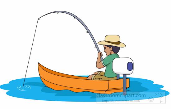 550x353 Fishing Boat Clipart Man Fishing