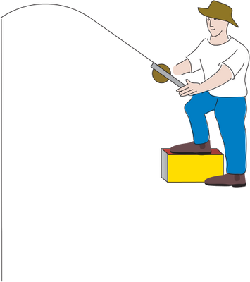 355x400 Man Fishing Drawing Clipart Panda