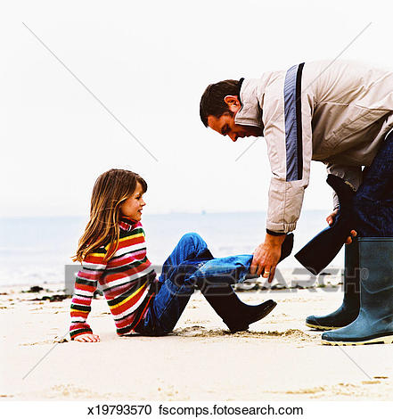 441x470 Stock Photography Of Side Profile Of A Father Helping His Daughter