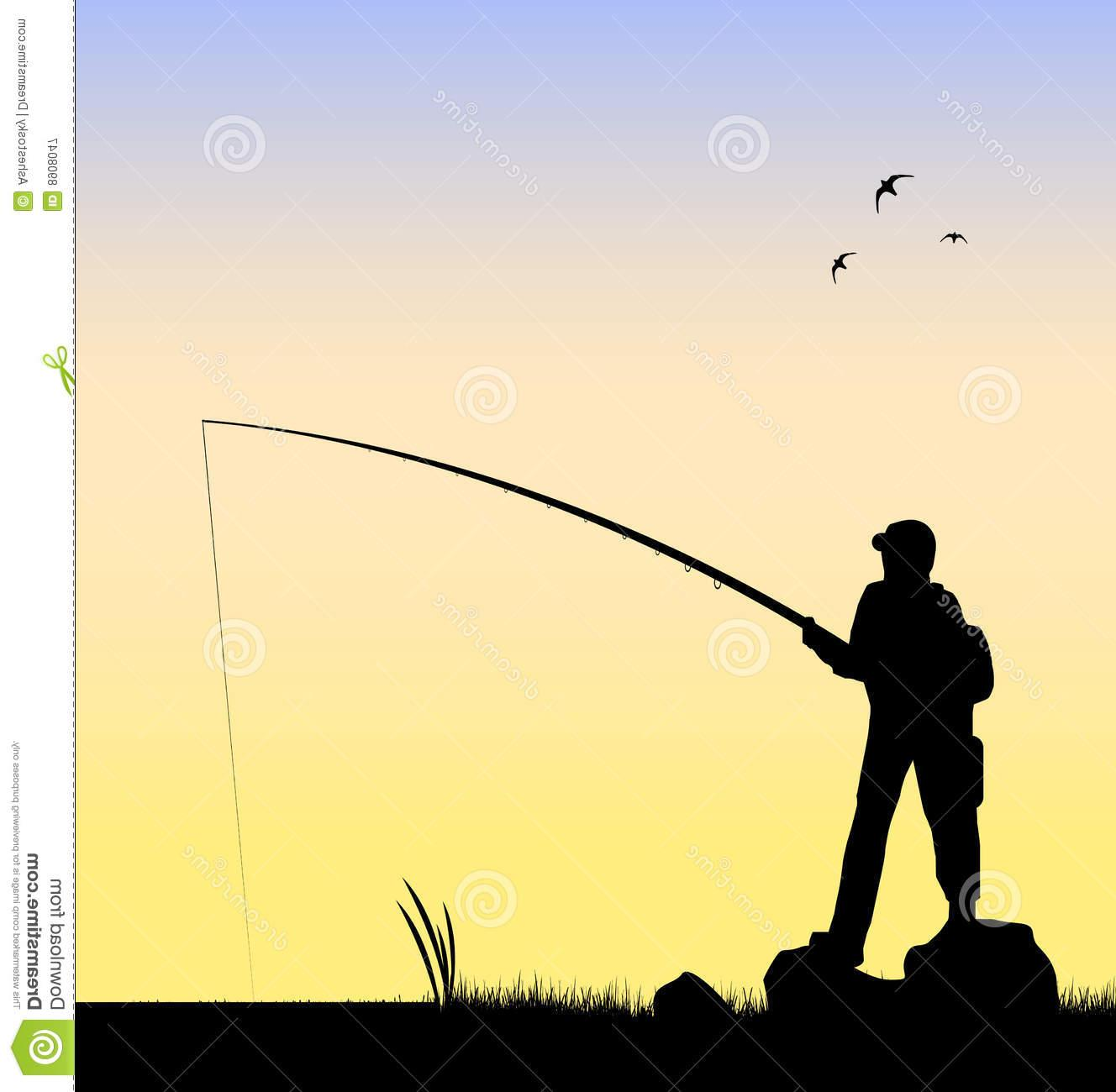 1328x1300 Best Free Fisherman Fishing River Vector Design