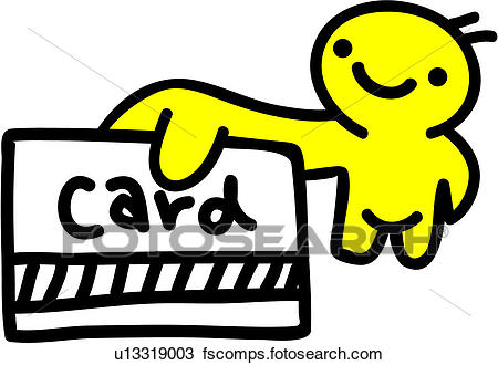 450x330 Clipart Of Card, People, Credit Card, Holding, Payment U13319003