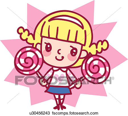 450x408 Clipart Of One Person, Girl, Person, People, Candy, Child