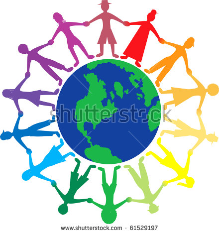 440x470 Clipart People Holding Hands Around The World, Free Clipart People