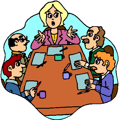 390x394 Clip Art People Meeting Clipart Image