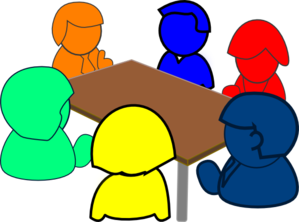 299x222 Colorful Meeting Clip Art